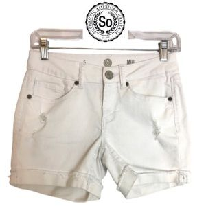 So White distressed rolled shorts Juniors size 5